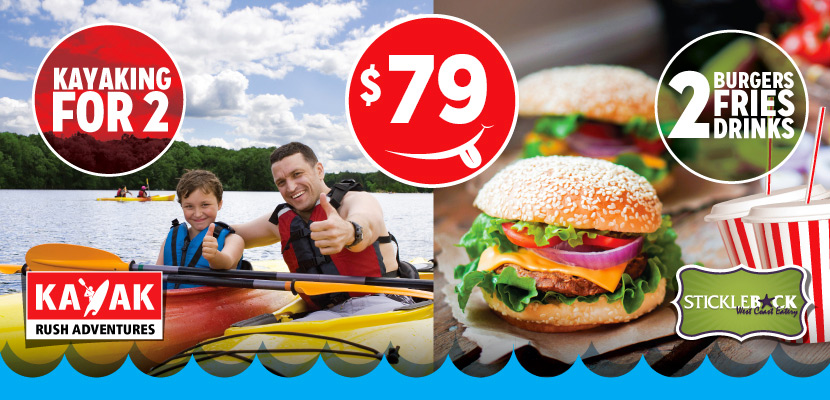 Kayaking Rentals & Meal For Two – Only $79.00!